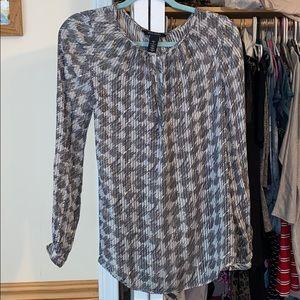 White House Black Market silk top Size 4